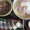 鯖寿司とつけ麺セット