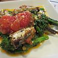 オイルサーディンの菜の花トマト煮