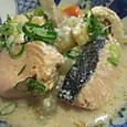 鮭と根菜の酒粕煮