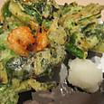 小松菜と海老のかき揚げ