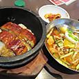 石焼うな丼と冷麺