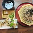 平茸の天ぷら蕎麦