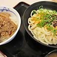 ぶっかけ坦坦麺とミニ牛丼