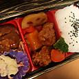 彩り野菜&甘酢あんかけハンバーグ