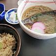 にしん蕎麦と茸ご飯