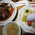 酢豚に炒飯、スープ
