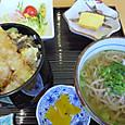 ミニ天丼と蕎麦