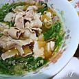豚バラ京水菜ラーメン