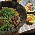 近江牛の焼肉風牛丼