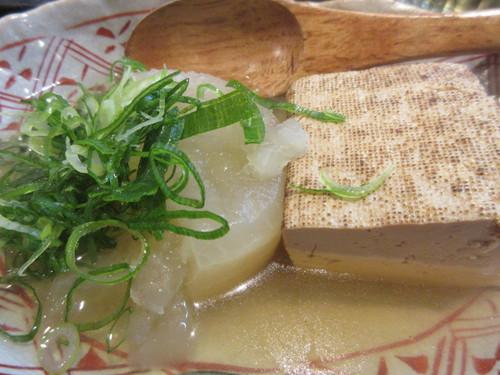焼き豆腐と大根