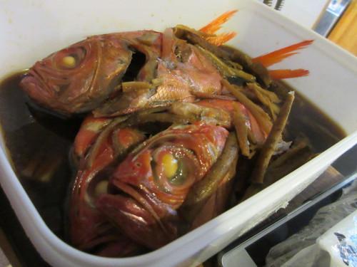 丸ごと金目鯛の煮つけ
