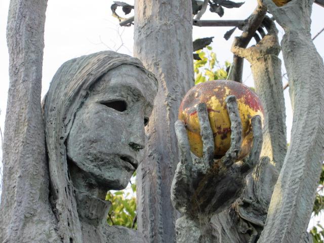 真鍮彫刻、アダムとイブ: 洋洋日...